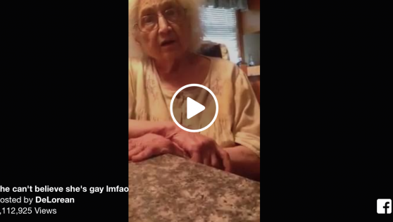 Grandma is struggling with her gay grandaughter.