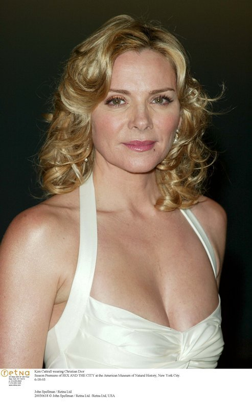 Kim Cattrall wearing Christian Dior Season Premiere of SEX AND THE CITY at the American Museum of Natural History, New York City. 18 June 2003John Spellman / Retna Ltd.