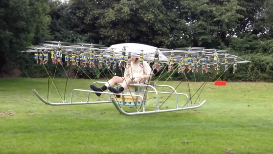 So this guy took his drone game to the next level!