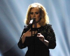 The Brit Awards, Show, O2 Arena, London, Britain - 21 Feb 2012, Adele (Photo by Brian Rasic/Getty Images)