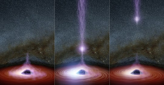 NASA just saw something come out of a black hole for the first time ever