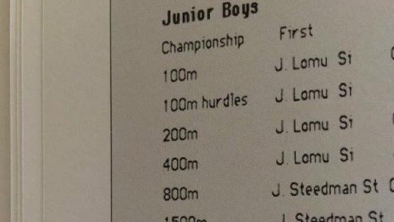 Jonah's high school athletics records, insane!