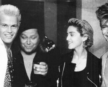 Billy Idol, Sam Kinison and David Bowie