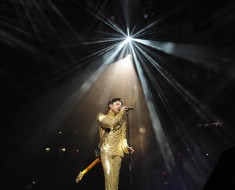 Prince performs at the Madison Square Garden in 2011. Photographer: Kevin Mazur/WireImage
